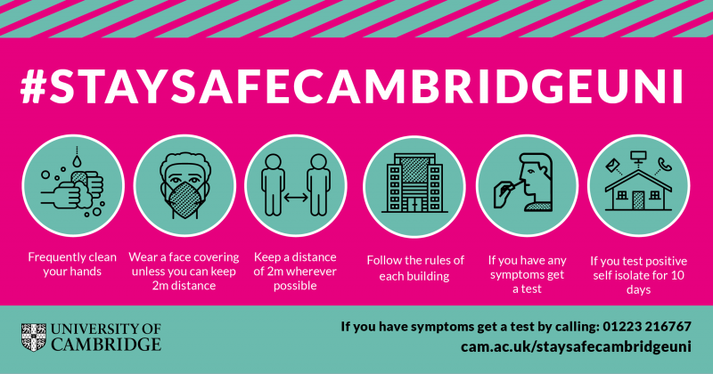 The Stay Safe Cambridge Uni promotional image