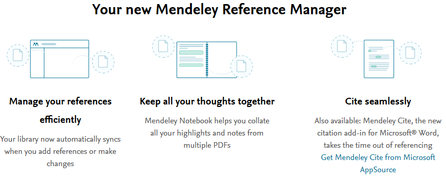 Mendeley features