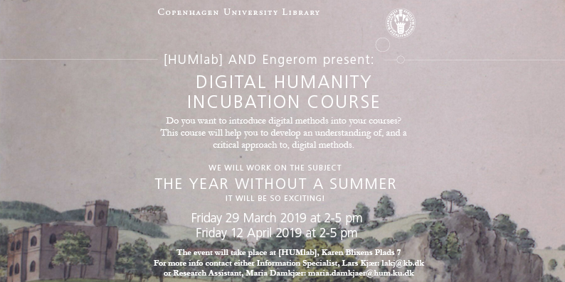 HUMlab and Engerom's Incubation Course