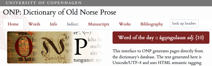 ONP: Dictionary of Old Norse Prose