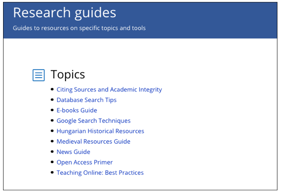 CEU library research guides