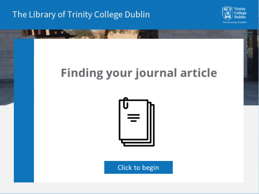 Finding your journal article