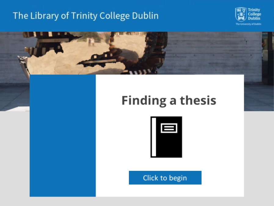 Finding a thesis