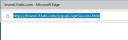 Pop up login success