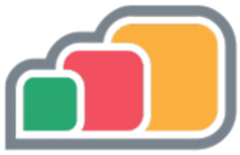 The apps anywhere logo, a trio of colourful clouds.