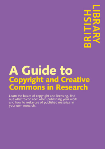 British Library guide to copyright and creative commons in research