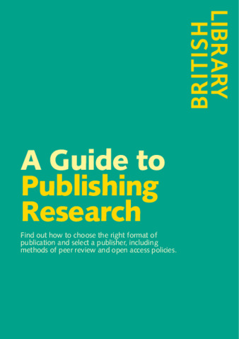 British Library Guide to publishing research