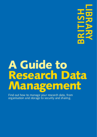 British Library Guide to Research Data Management