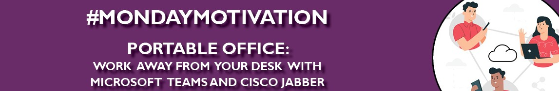 Commons event banner - Monday Motivation - Portable Office