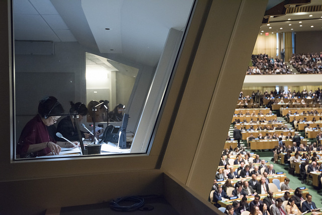 UN Interpreters Covering General Assembly General Debate by United Nations Photo, on Flickr