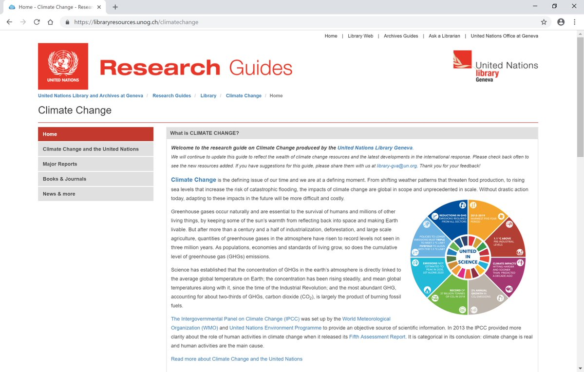 Climate Change Resarch Guide screenshot