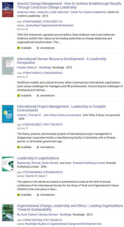 leading change ebooks list
