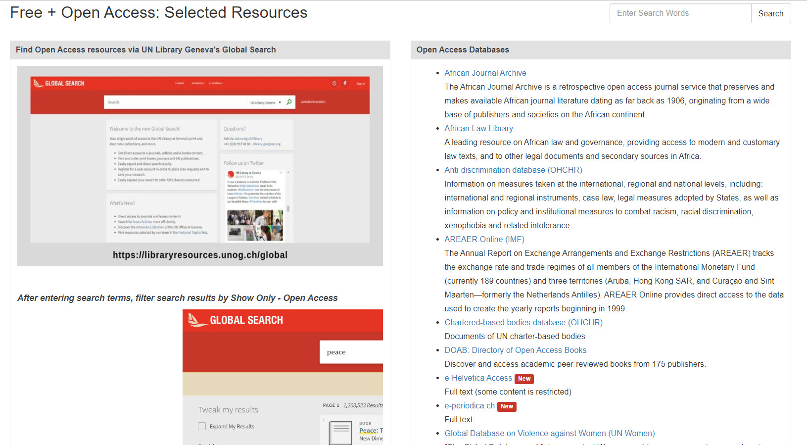 Open Access Resource Guide