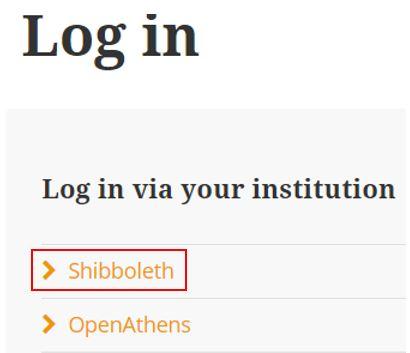Login via Shibboleth