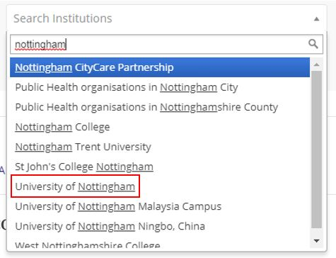 Search for Nottingham