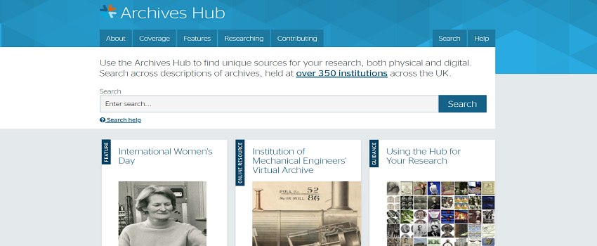 Archives Hub Search