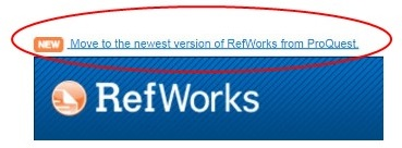 Link to move to the new version of RefWorks