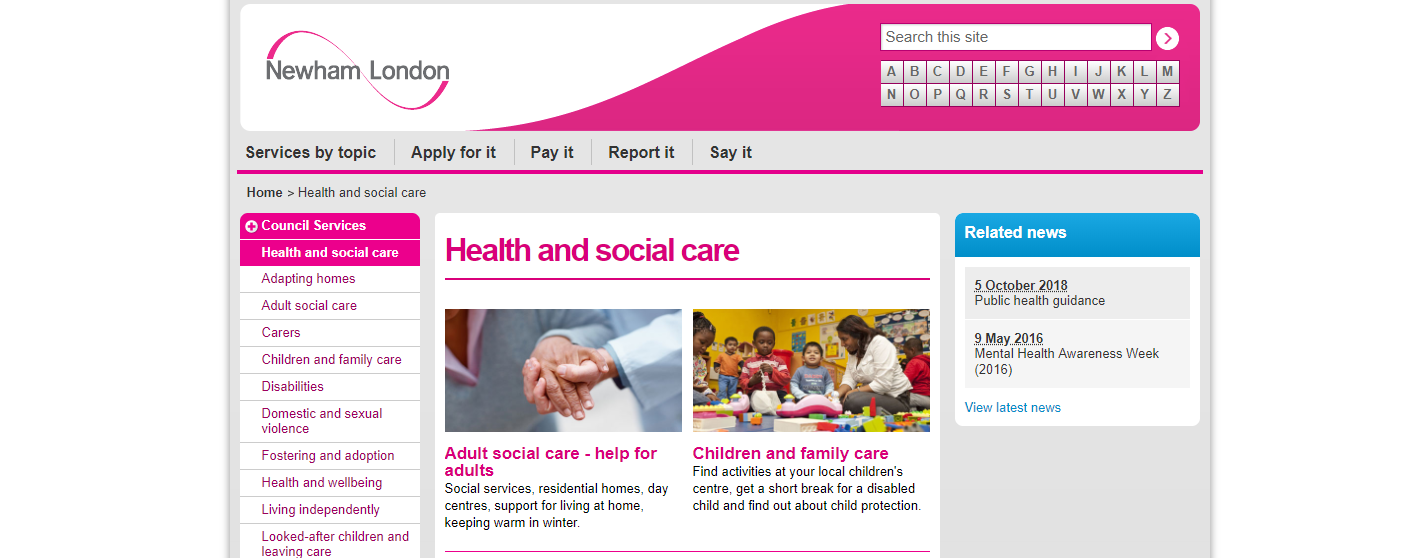 Newham London Health and social care.