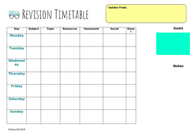 revision time table