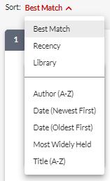 screenshot SmartCat. dropdown menu sort