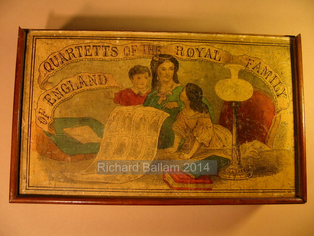 Box lid of Quartetts of the Royal Family of England (Barfoot)