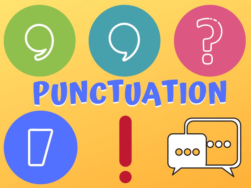 decorative image of punctuation symbols