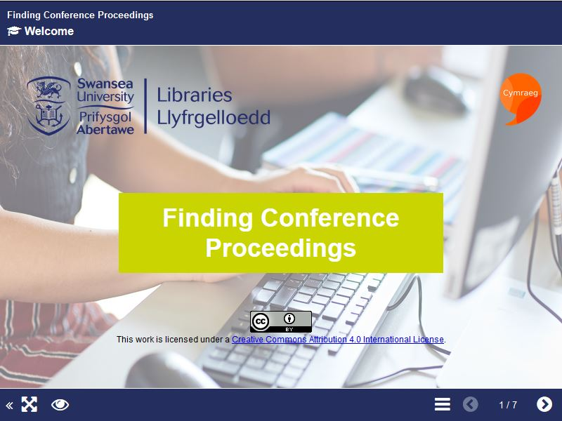 Finding Conference Proceedings Short Course Image
