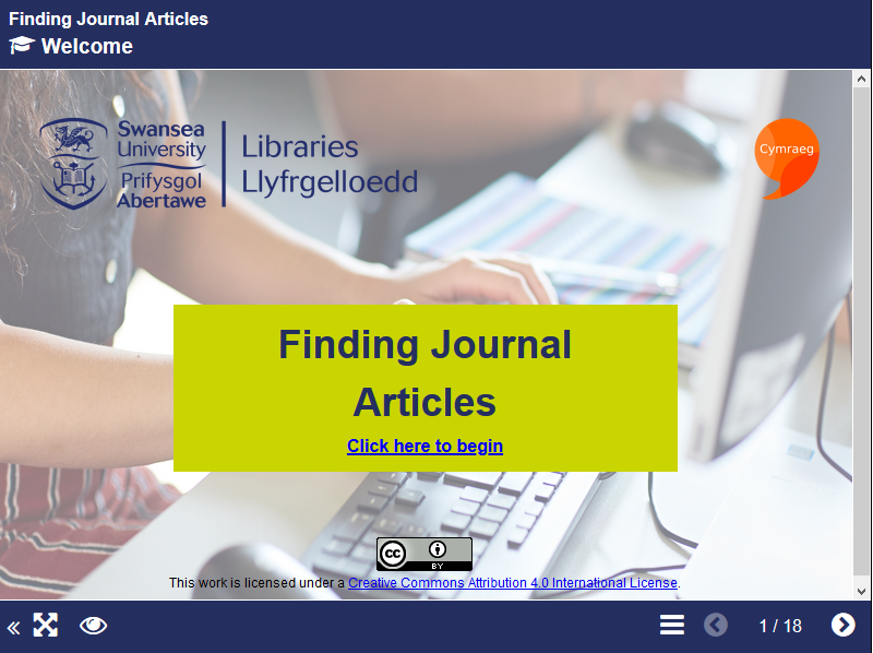 Introduction to finding journal articles short course