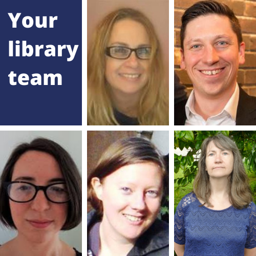 The College Library team are Allison, Giles, Naomi, Philippa and Susan.