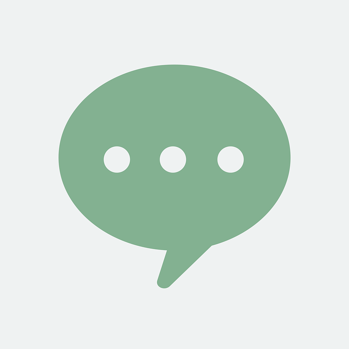 Speech bubble with conversation dots
