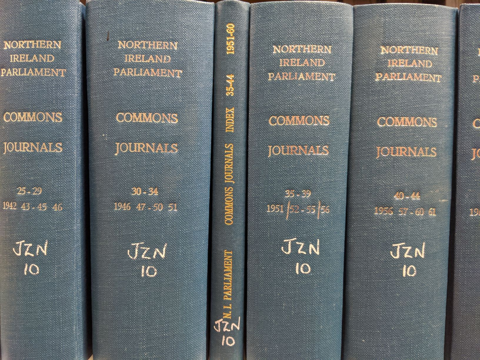Northern Ireland House of Commons Journals