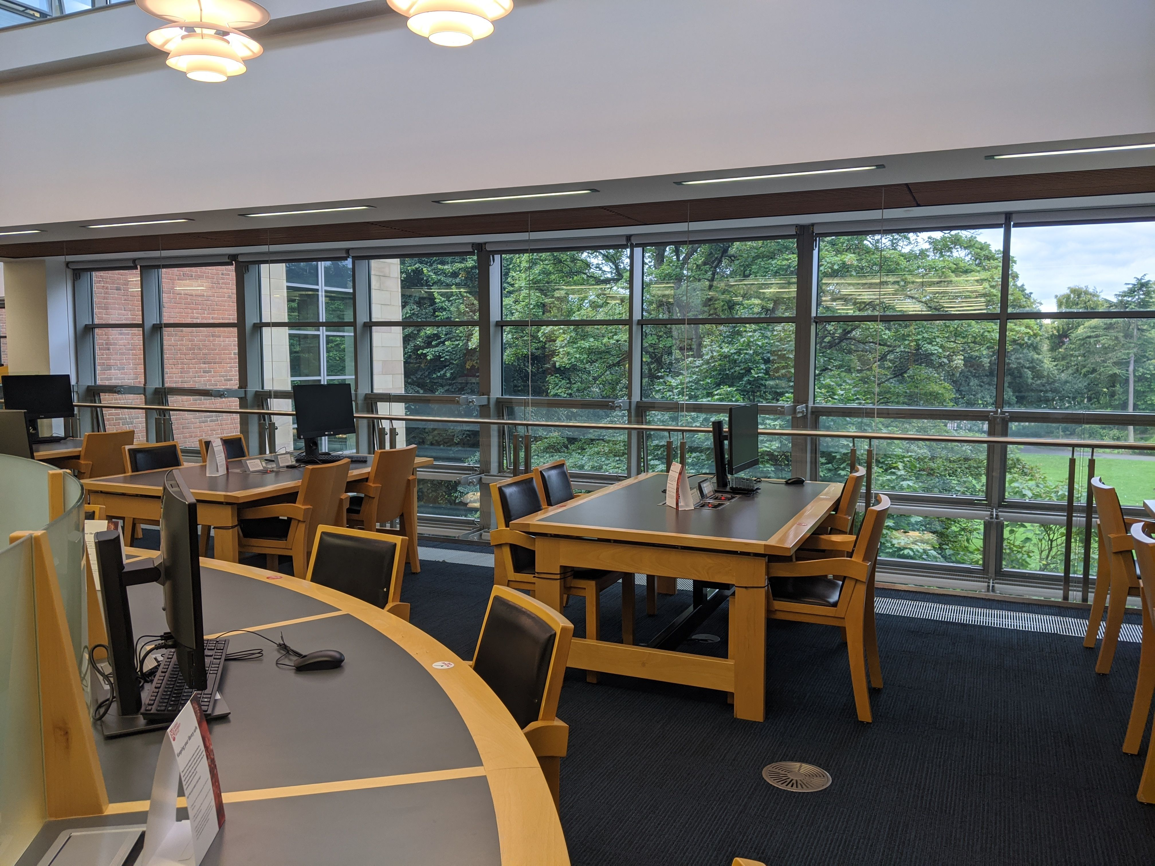 Study spaces in the McClay Library