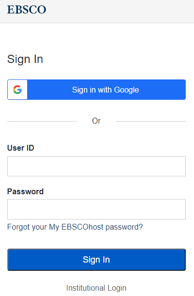 EBSCO personal sign in