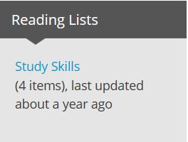 reading list box in moodle