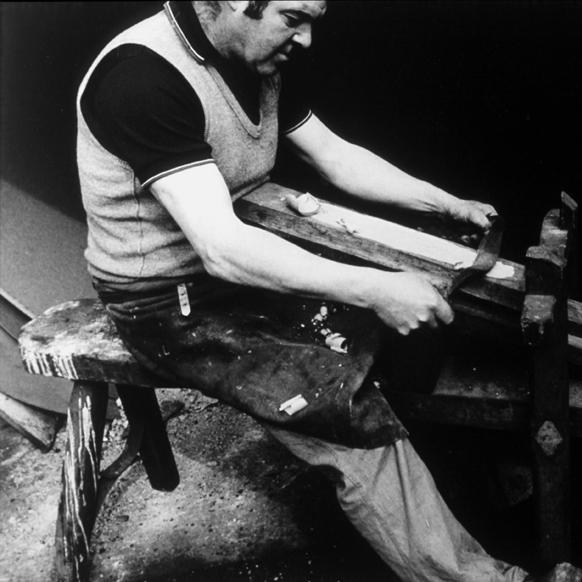 Photograph of Clive Hollis, Master Cooper, David Morgan Rees Collection.