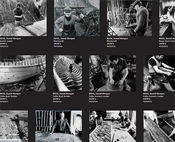 Screenshot of the David Morgan Rees digital collection page in SHIMMER.