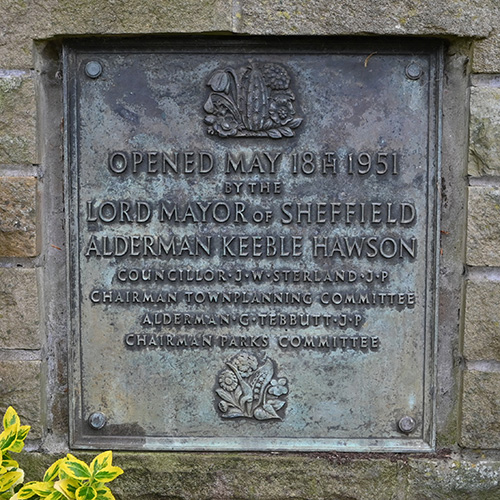 Photo of opening day plaque