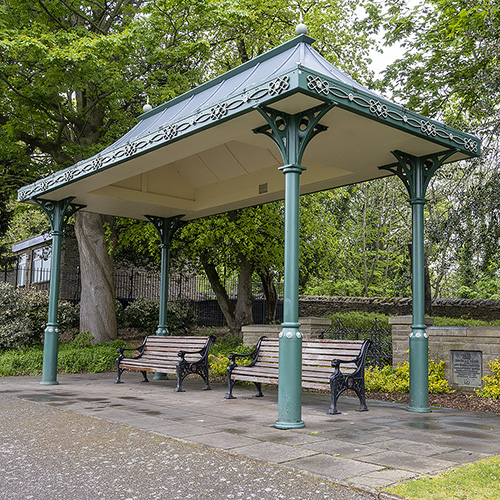 Photo of seating, Weston Park.