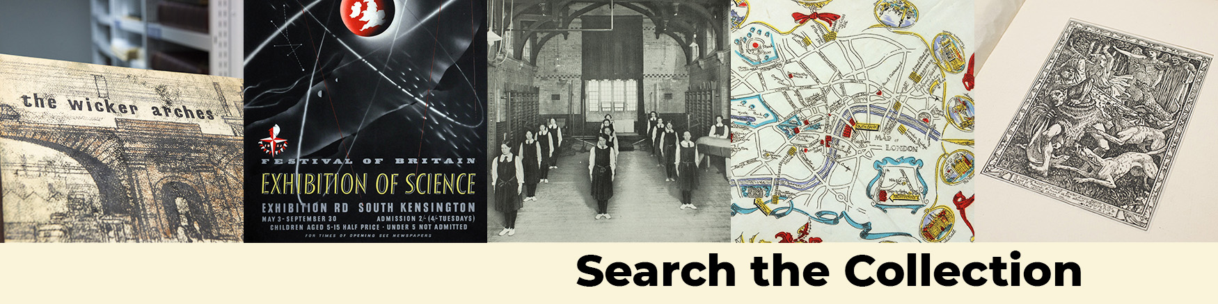 Banner image for the Search the Collections Page.