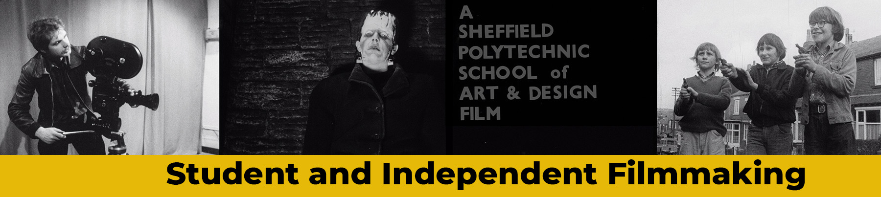 Banner image for The Student and Independent Filmmaking page