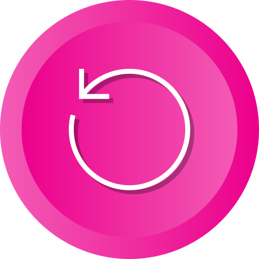 Pink circle with anti-clockwise arrow
