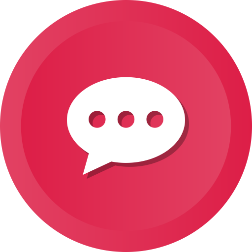 online support icon with speech bubble