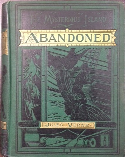 Book cover to Jules Verne Mysterious Island Part 2 - Abandoned
