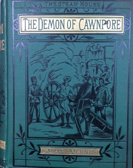 Book cover to the Demon of Cawnpore.