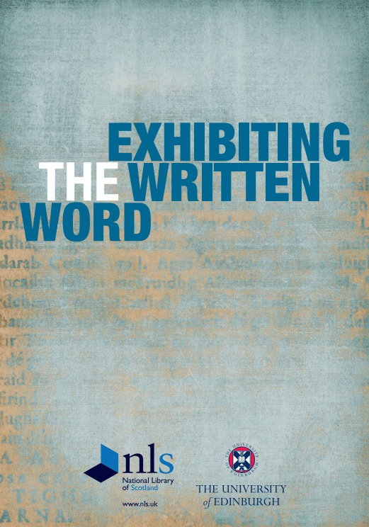 Front cover to 'Exhibiting the Written Word' booklet.