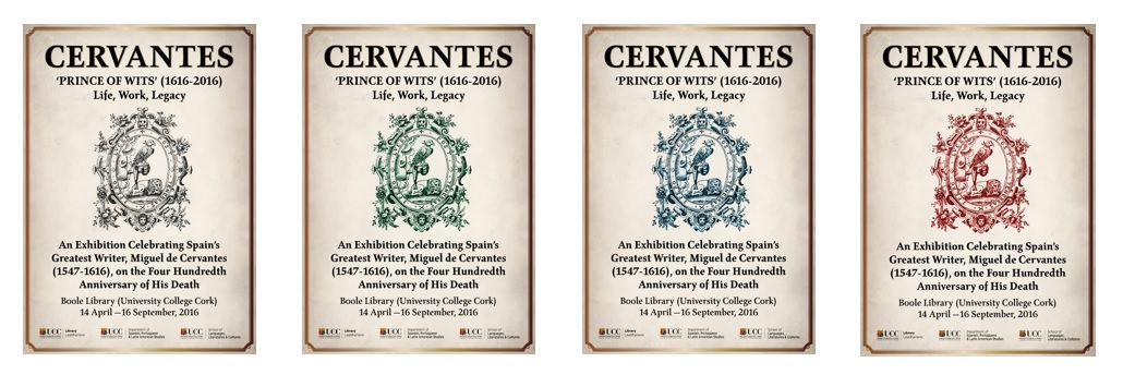 Poster of Cervantes used for promoting the exhibition.