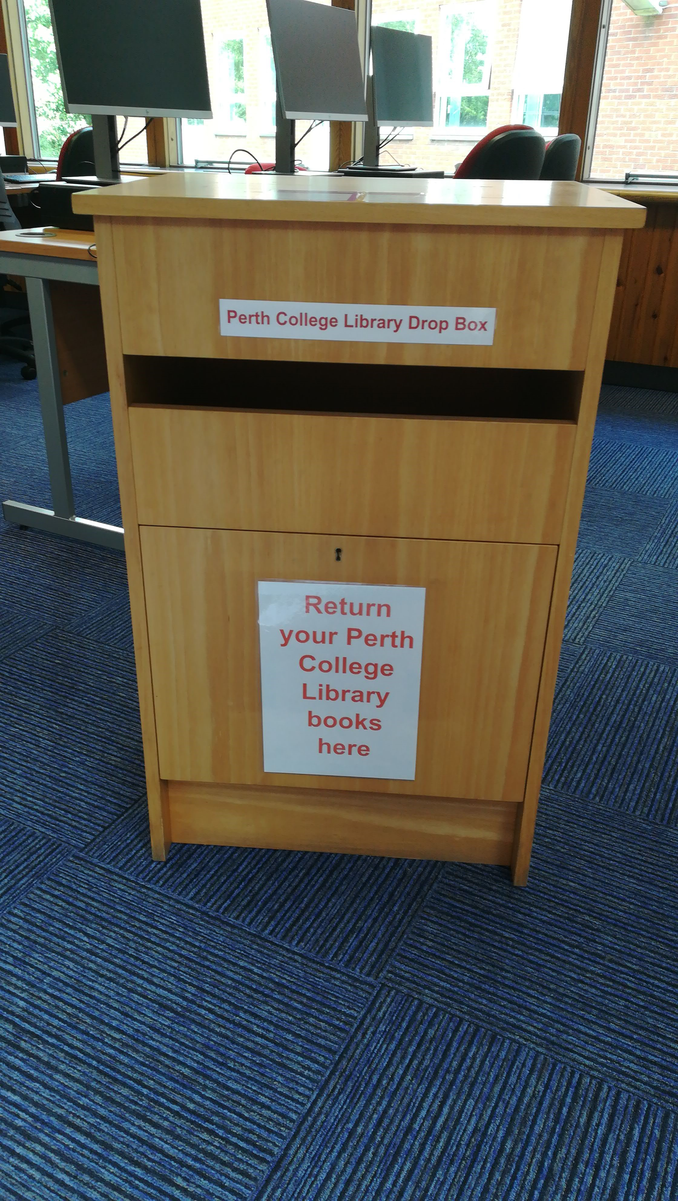image of the Library book return box
