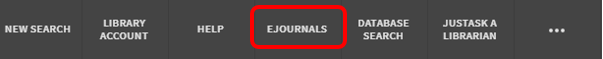 FindIt@Bham ribbon with the eJournals tab highlighted in red.