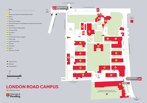 Map of London Road Campus