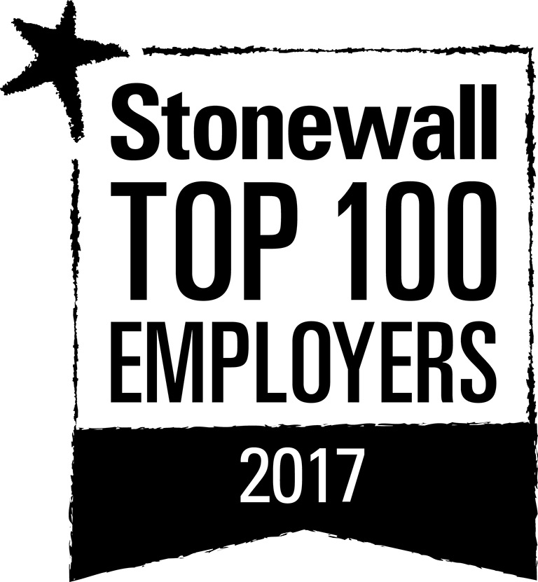 Image result for stonewall top 100 employers 2017